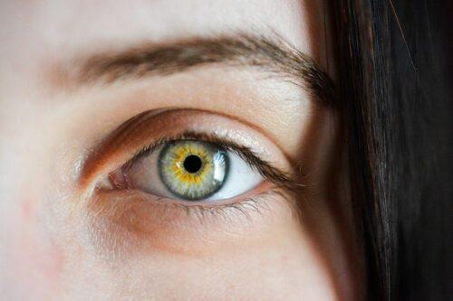狼の目のような緑の瞳。