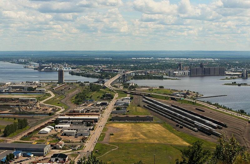 工業地帯俯瞰図。