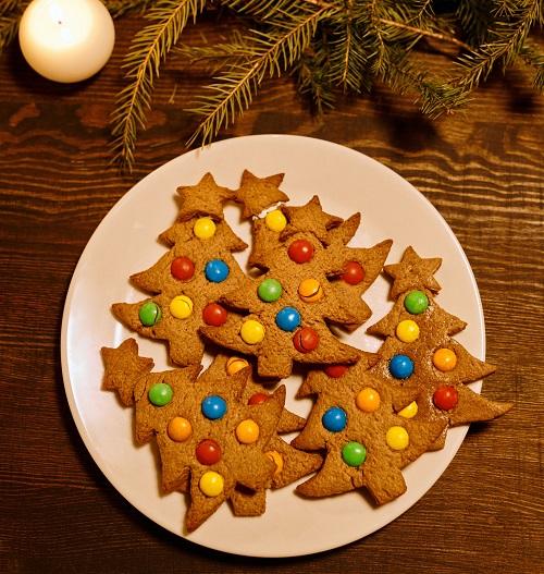 ツリーの形のクッキー。
